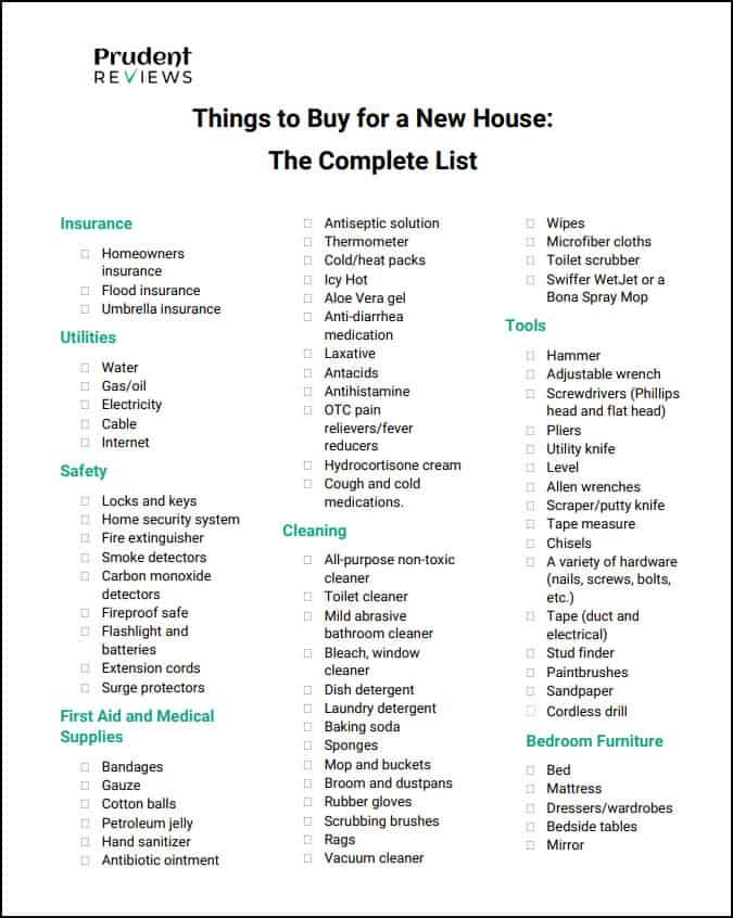 This Comprehensive Checklist That You Can Download And Print Will Help You Prioritize Everything New Home Checklist First Home Essentials New Home Essentials