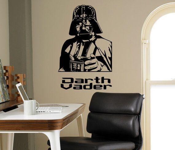 Arredamento camera da letto di Darth Vader Star Wars parete vinile Decal Skywalker Wall Sticker casa salone interno rimovibile adesivi personalizzati 17(dvr)