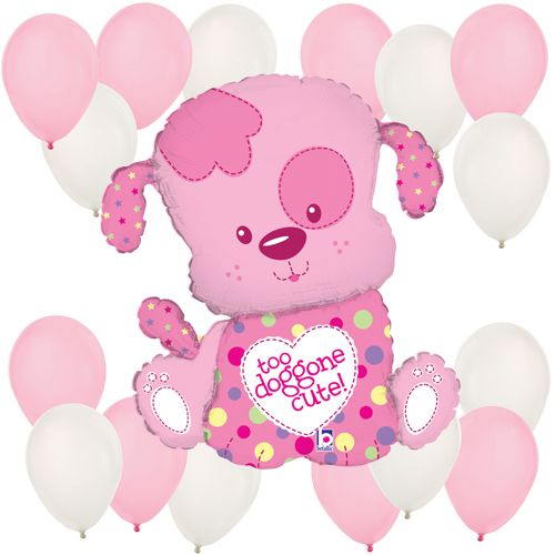 Girl Puppy - Balloon Kit for Baby Showers or Birthday Parties #puppyparty #BigDot #HappyDot