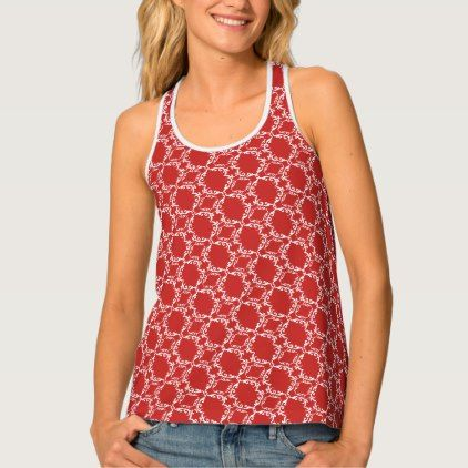 Ornate Pattern / Red Tank Top - patterns pattern special unique design gift idea diy