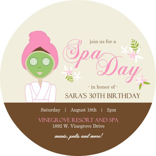 45 best images about SPA party – Spa Party Invitation Template