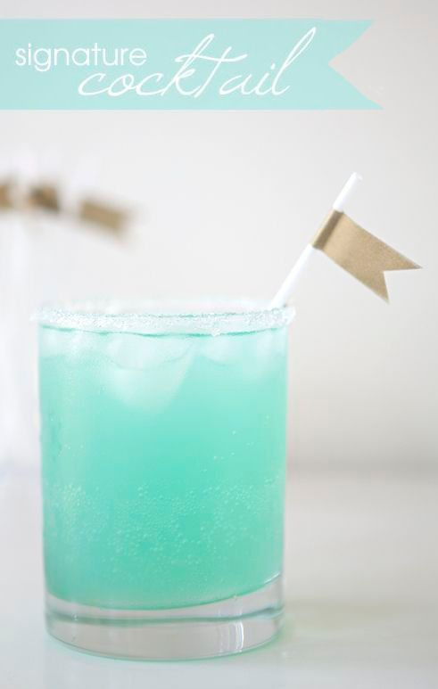 Tiffany Blue Signature Cocktail  ❤︎#wedding #drinks #party