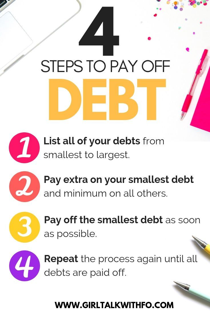 4 Steps to Paying Off Debt