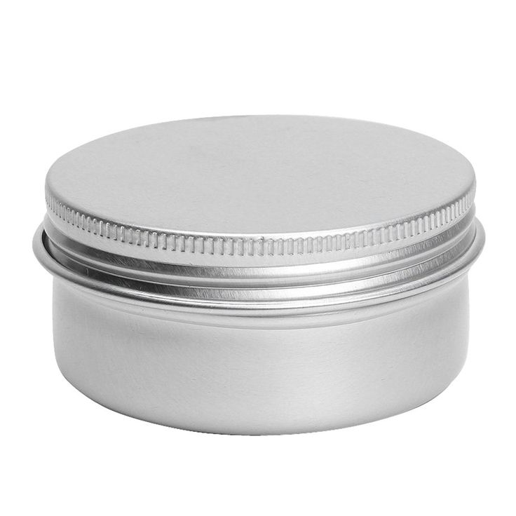 JEYL Hot New Balm Nail Art Cosmetic Cream Make Up Pot Lip Tin Case Container 5 Pcs 50ml Sliver