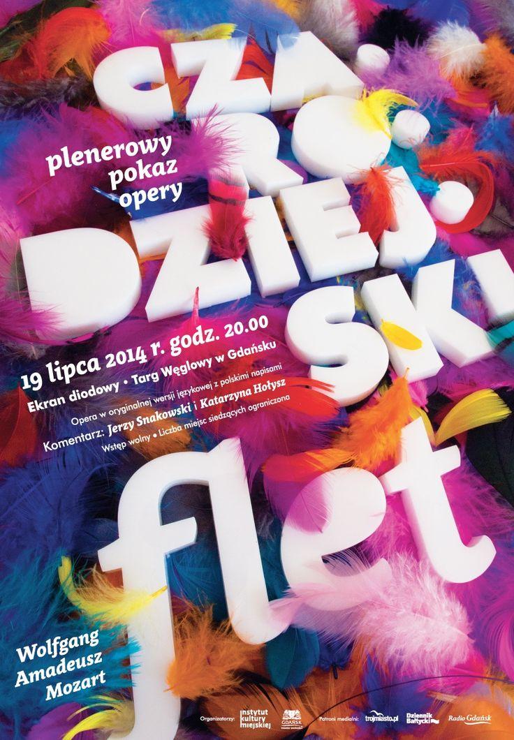 """""""Czarodziejski flet"""" - plenerowy pokaz opery / 'The Magic Flute' - outdoor screening of the opera, Projekt/Design: Anita Wasik"""