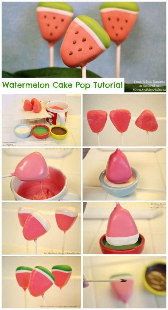 Watermelon Cake Pops Tutorial