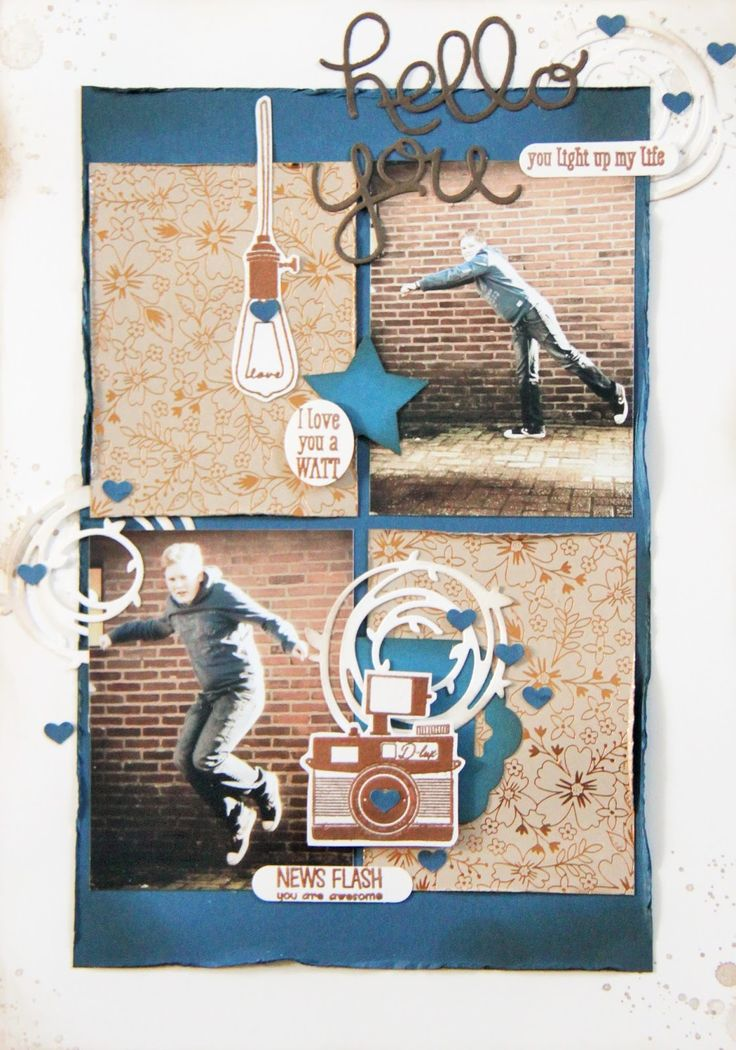 Creations by Jolan Stampin'Up layout New Catalog 2016-2018 with copper embossing powder.