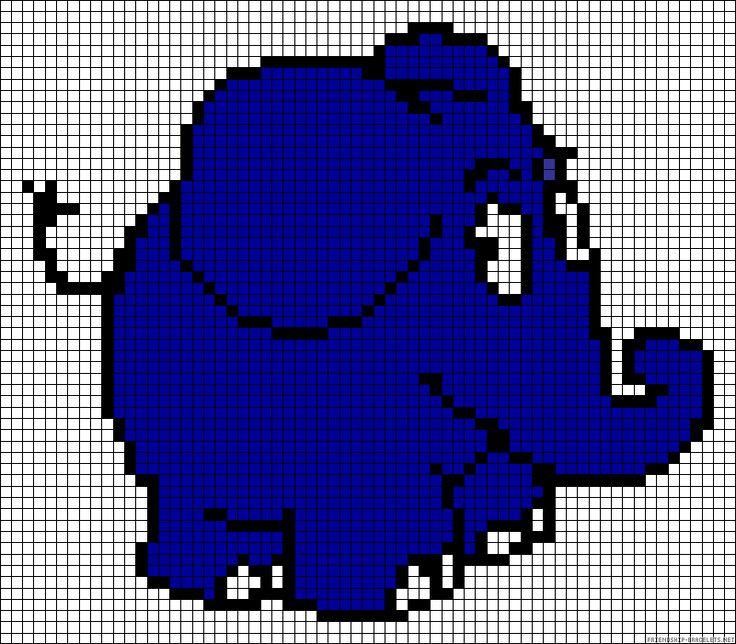 Elefant Sendung mit der Maus Bügelperlen Vorlage