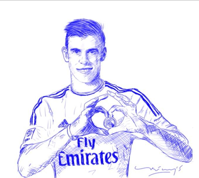 Gareth Bale #haladrid #sketch #art