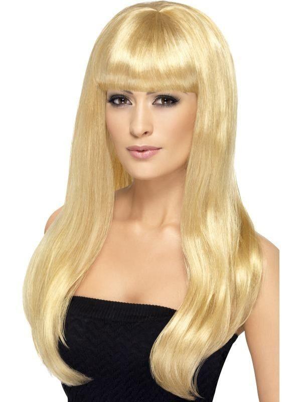 Fabulous blond babelicious paryk. Ønsker du at have blond hår for en aften eller måske bare længere hår, så er denne smukke paryk lige noget for dig.