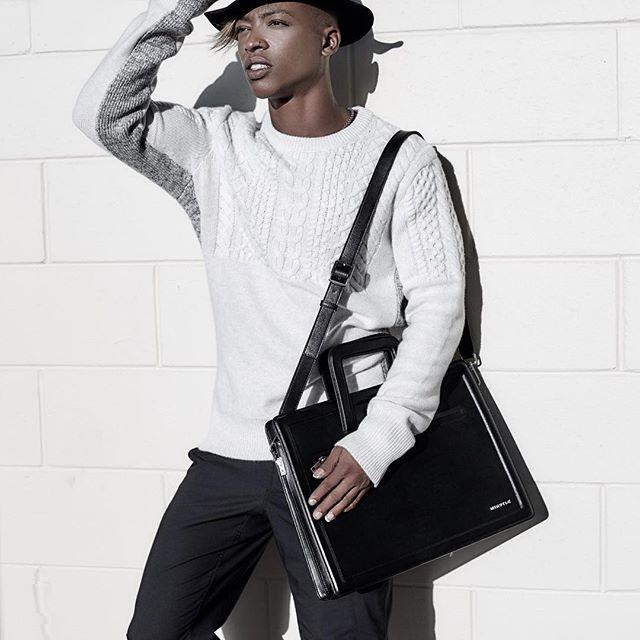 @minutiae_au Men's briefcase in black leather #Minutiae #Inthedetails #leather www.minutiae.com.au