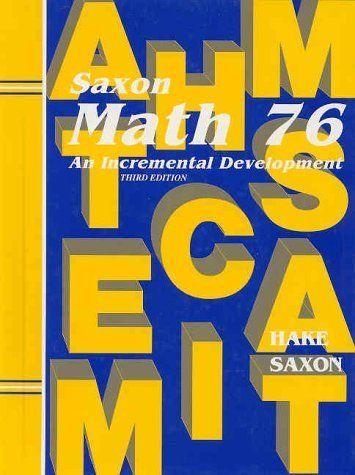 Saxon 76 2nd ed. 2 lessons per day