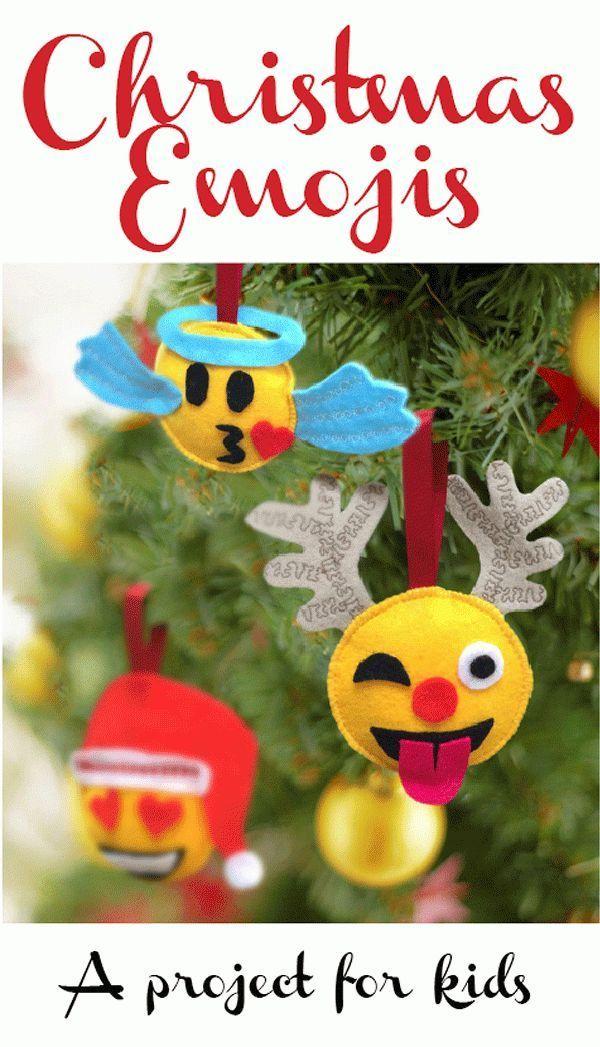 Felt emoji Christmas decorations tutorial!