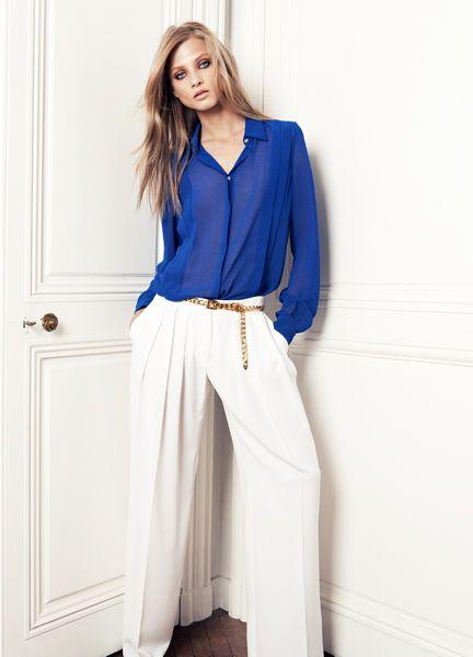 Голубая блузка (52 фото): с чем носить женские блузы голубого цвета