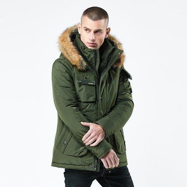 Vintage Men Hooded Oversize Parka Coat Winter Jacket Men 90s Clothing Casual Parka Men Outerwear 80s Grey Parka Coat size Large L