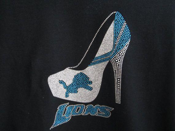 Detroit Lions high heel rhinestone/glitter by YourTeamBlings