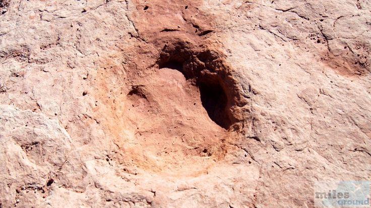 Dinosaurierspur - Check more at https://www.miles-around.de/nordamerika/usa/utah/arches-nationalpark/,  #Moab #Nationalpark #Natur #Reisebericht #USA #Utah #Wandern
