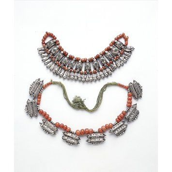 Silver and coral necklace, Ladakh, mid 19th century. l Victoria and Albert Museum