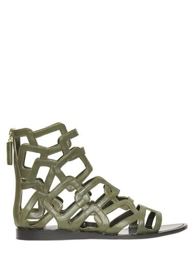 Maiyet - Leather Cage Sandals on shopstyle.co.uk