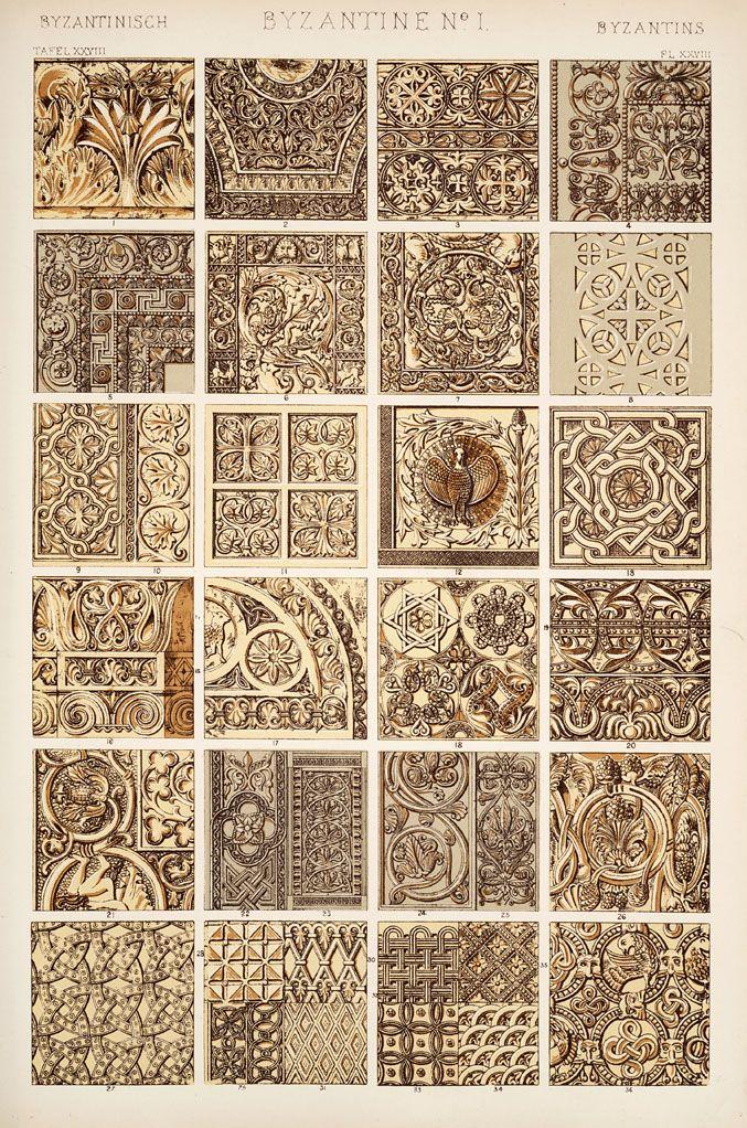 Jones, Owen, 1809-1874. / The grammar of ornament  (1910)    [Byzantine ornament. Plates 28, 29, 29*, 30], pp. PL. XXVIII-PL. XXX ff.    Page PL. XXVIII
