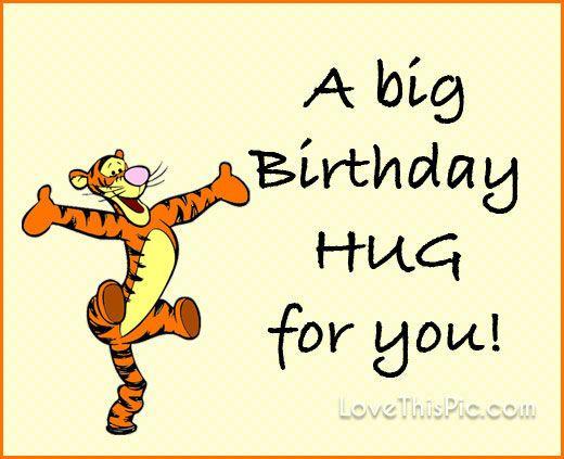A Big Birthday Hug …