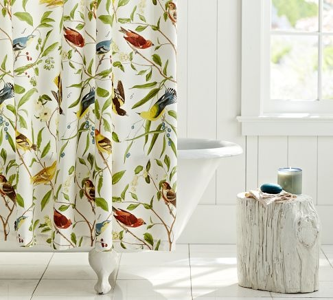 Thinking of buying this shower curtain and making into a slip cover for a Chair. :)