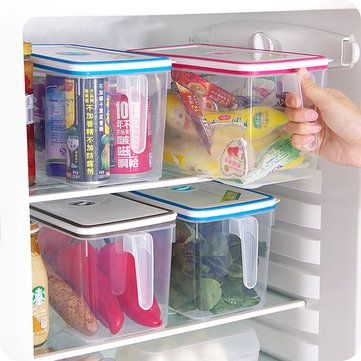 Favorable Food Container Storage Box Food Crisper Kitchen Refrigerator Storage Box With Handle and Date Table - NewChic Mobile.
