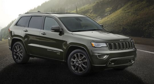 2016 Jeep Grand Cherokee 75th Anniversary edition Starting price: $36,775 Will come in Recon Green as well as four other colors as well as gloss black painted body accents. It will feature special headlamps, grille and fascia. It will ride on 18- or 20-inch wheels. It will include Gore-Tex seat cloth inserts or leather head rests with special badging.