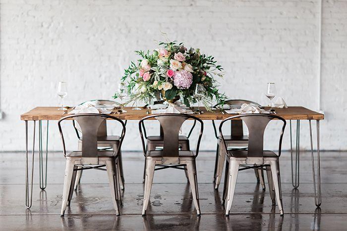 Rustic Industrial Wedding Receptiomn Decor