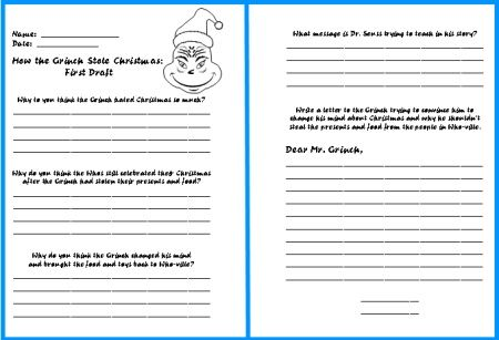 how the grinch stole christmas lesson plans author dr seuss activities comprehension and. Black Bedroom Furniture Sets. Home Design Ideas