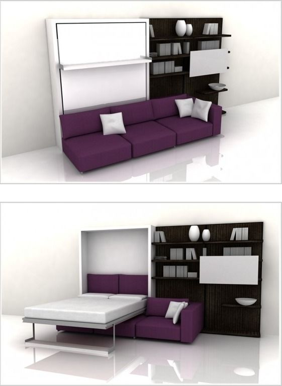 Best Images About Multifuncion On Pinterest Murphy Bed With - Clever space saving ideas for small room layouts