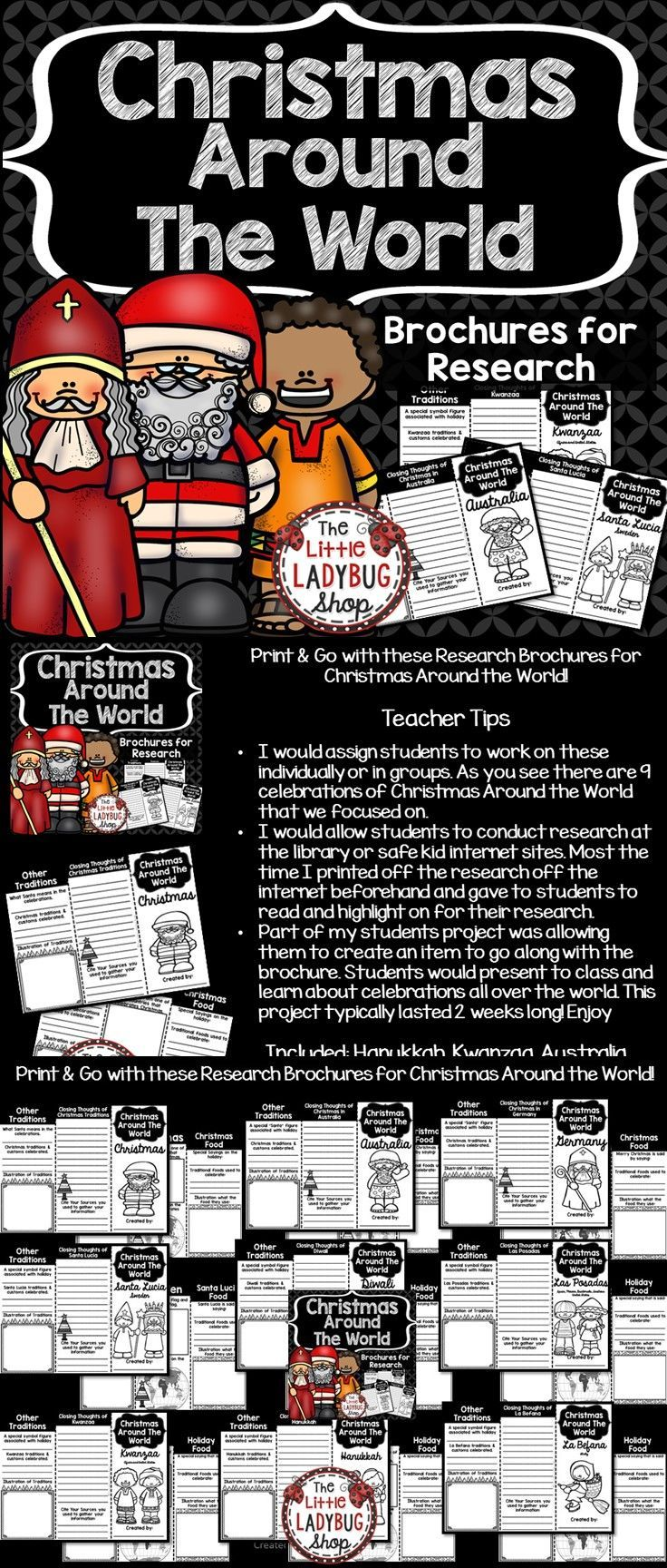 ★★ Christmas Around the World Brochures.★★ Print & Go with these Research Brochures for Christmas Around the World!