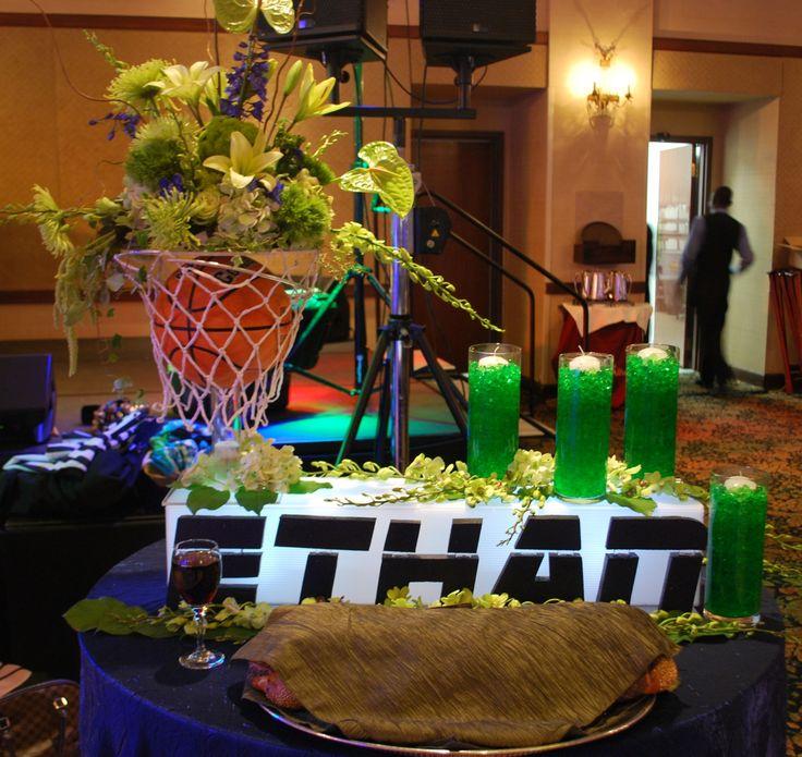 Basketball Themed Bar Mitzvah Candle Lighting Display