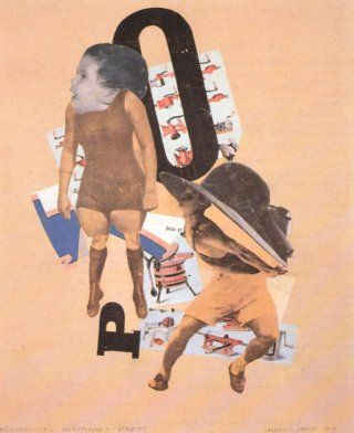 Hannah Höch, Bürgerliches Brautparr. Streit (Couple bourgeois. Dispute - Bourgeois Couple. Fight), 1919, photomontage, 38 x 30,6 cm, collection particulière (private collection)
