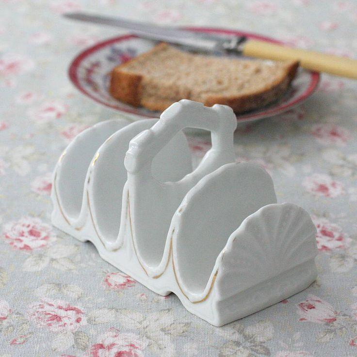 Vintage ceramic toast rack