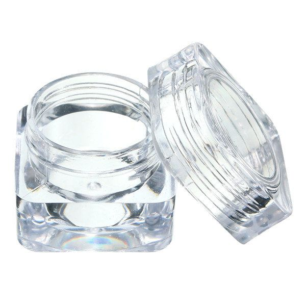Eye Cream Jar Acrylic Cosmetic Plastic Bottle Makeup Canister Empty Container