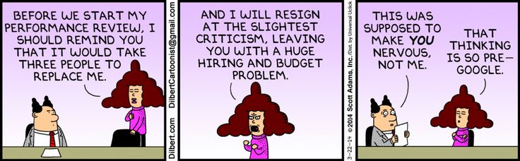 Annual performance review by text message Dilbert Career Humor - performance reviews