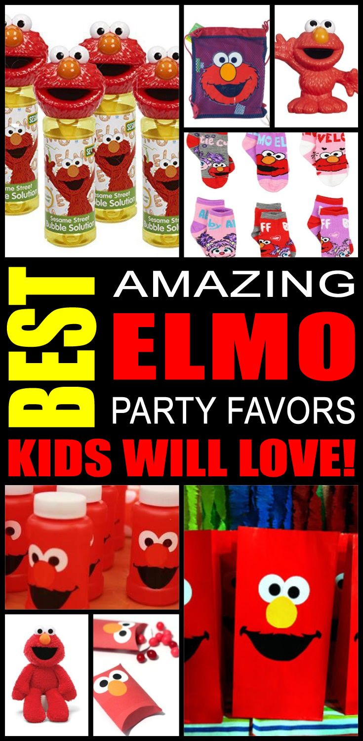 Fun Elmo party favor ideas that kids, tweens and teens will love. Try these simple diy Elmo party favors for boys and girls. Here are some easy gift bags, treat bags and more birthday ideas to say thank you to the friends of that special birthday child.