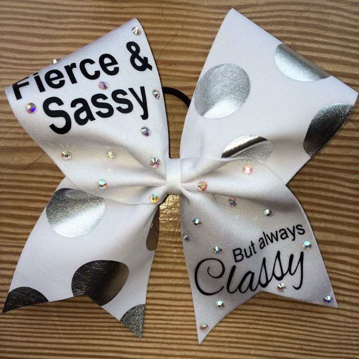 Cheer Bow Fierce and Sassy But Always Classy! by CarleysBows on Etsy https://www.etsy.com/listing/237692111/cheer-bow-fierce-and-sassy-but-always