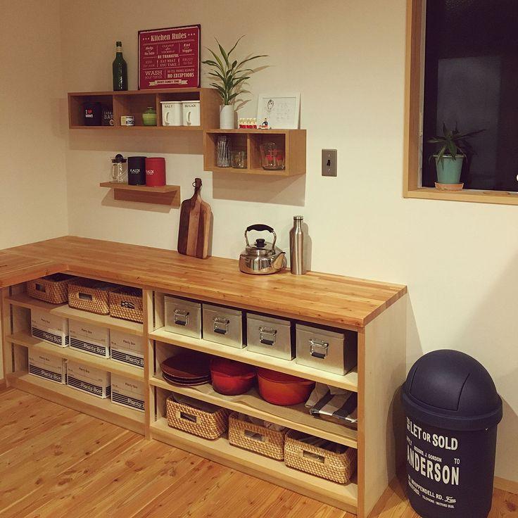 Kitchen/無印良品/ニトリ/セリア/無印良品 壁に付けられる家具/無印トタンボックスのインテリア実例 - 2017-11-25 13:42:11