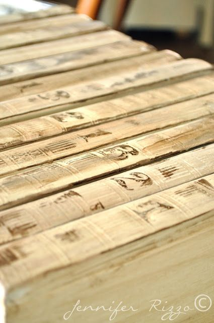 Repurpose old encyclopedia's into aged display books…..for next time I see a cheap encyclopedia set