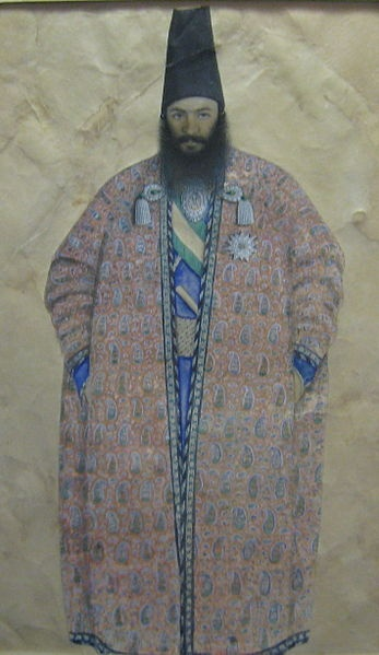 Painting attributed to Amir Kabir , 19 th century AD , National Museum of Iran.