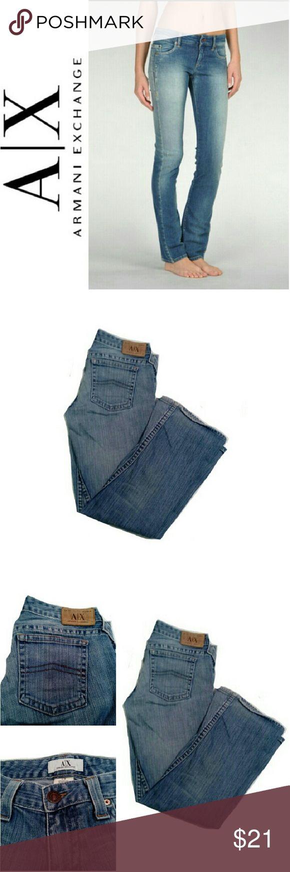 "ARMANI EXCHANGE BOOT CUT JEANS - SHORT ARMANI EXCHANGE BOOT CUT JEANS Pre-Loved  *.  Classic Boot Cut Jeans *.  Size 6 Short *.  W 31"" L 29"" Armani Exchange Jeans Boot Cut"