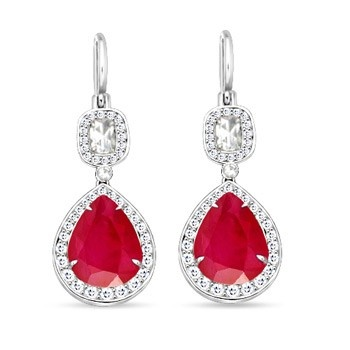 Angara Drop Diamond Earrings in White Gold b4ADVdqGXt