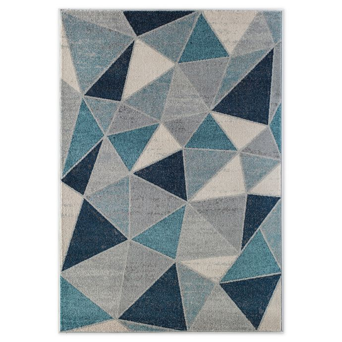 Rugs America Geometric Prism 5 X 7 Area Rug In Blue Bed Bath