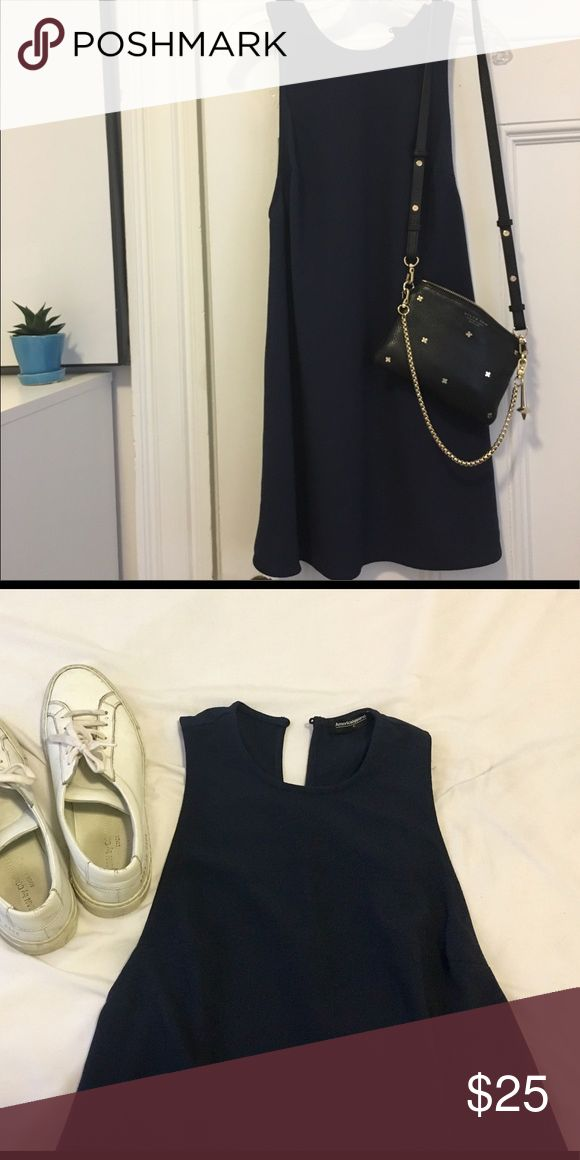 American Apparel navy A-line dress Simple navy stress - A-line, slight halter neck. Great for casual summer look or can be dressed up with knee high boots American Apparel Dresses Mini