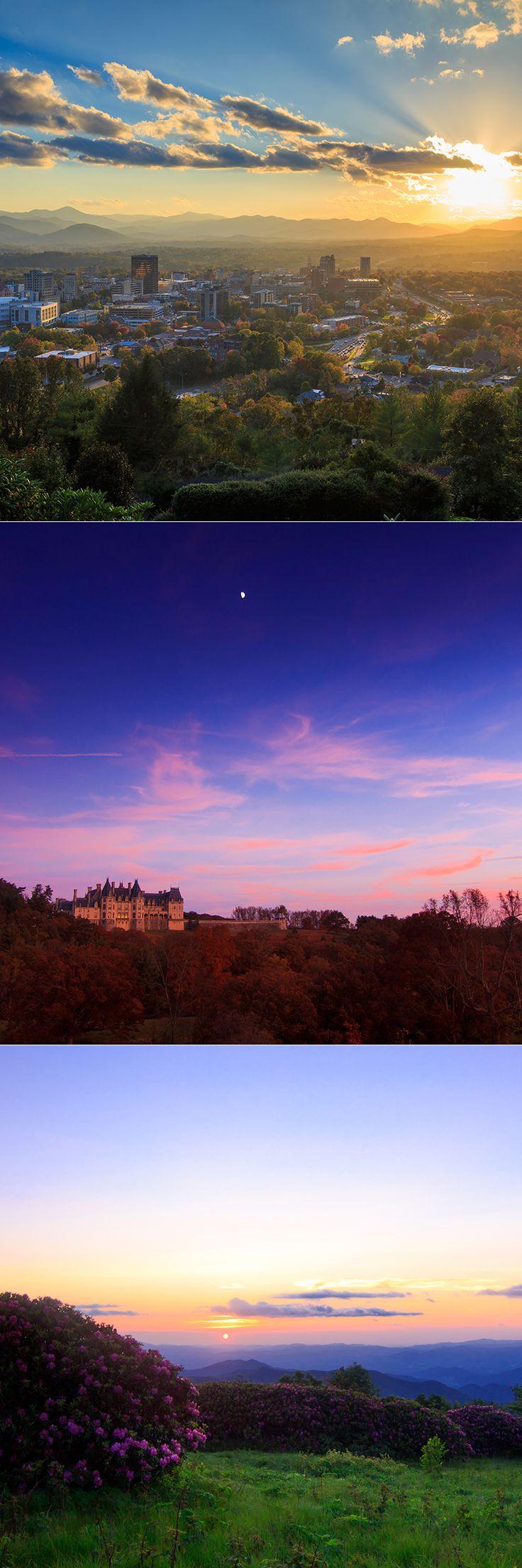 Top 5 Spots to Catch the Sunset in Asheville, N.C. #travel #sunset #blueridgemountains   ExploreAsheville.com