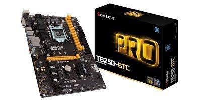 [REVIEW] Biostar Motherboard TB250-BTC Core i7/i5/i3 LGA1151 Intel B250 DDR4 SATA PCI Express USB ATX Retail