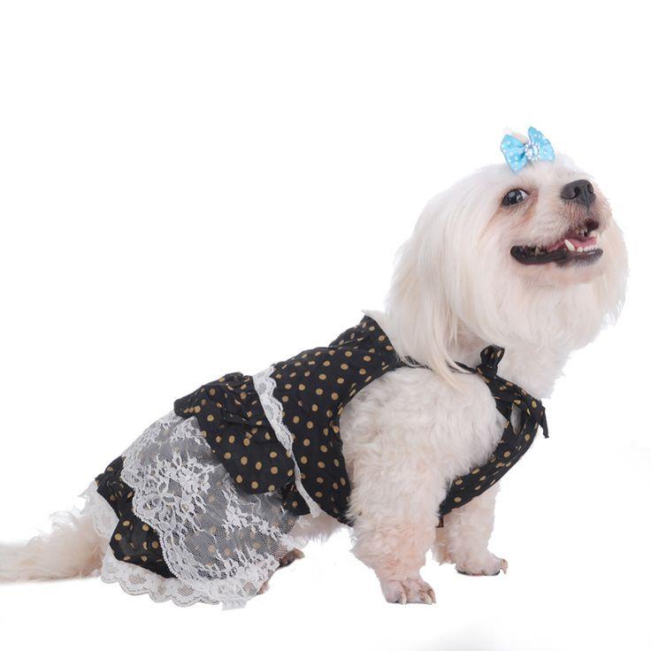 Черная Точка Собака Кошка Платье Принцессы Кружева Платья Для домашних Собак Щенок Юбки Новый Дизайн Для Фестиваля Свадьба одежда