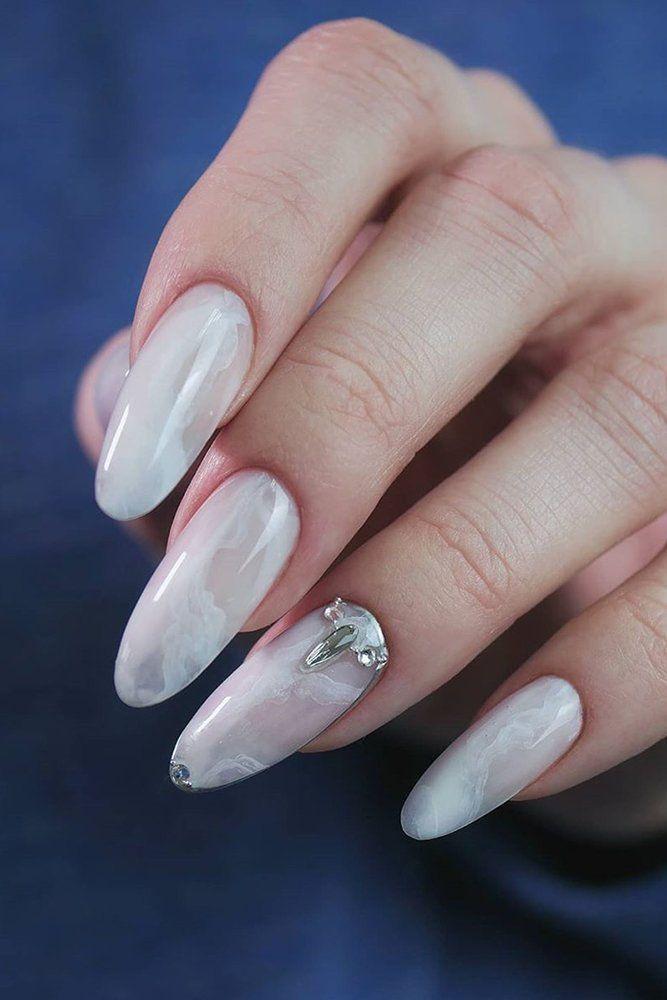 30 Perfect Bridal Nails Art Designs Wedding Forward In 2020 Bridal Nails White Nail Designs Bridal Nail Art